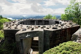 Gun emplacement, Fjell battery, near Bergen, Norway