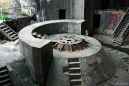Interior of giant casemate at Vara battery, Norway