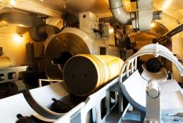 Chamber beneath the 'Adolf' gun at Trondenes, Norway