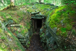 Trench entrance on the island of Ny-Hellesund, Norway