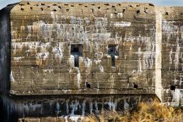Eroded bunker at Blavand strong point, Denmark