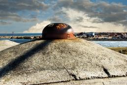 Artillery bunker cupola at Hvide-Sande, Denmark