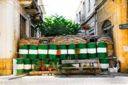 Barrier in Greek quarter, Nicosia, Cyprus