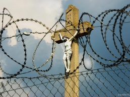 Hungarian Crucifix from Serbian side of the fence