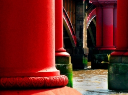 Columns of the old Chatham and Dover Railway Bridge, Blackfriars