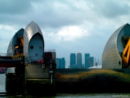 Thames flood barrier at Woolwich
