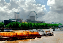 National Theatre with the London Eye